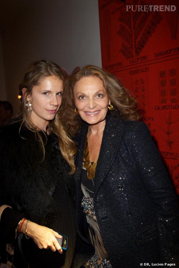 Eugenie Niarchos et Diane von Furstenberg à la Maison Darré.