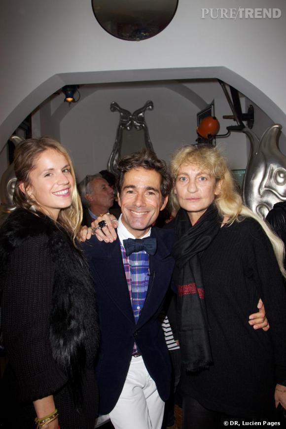 Eugenie Niarchos, Vincent Darré et Victoria Niarchos à la Maison Darré.