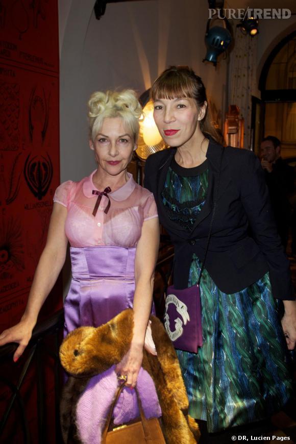 Fifi Chachnil et Victoire de Castellane à la Maison Darré.