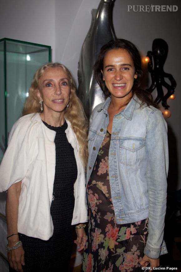 Franca Sozzani et Coco Brandolini à la Maison Darré.