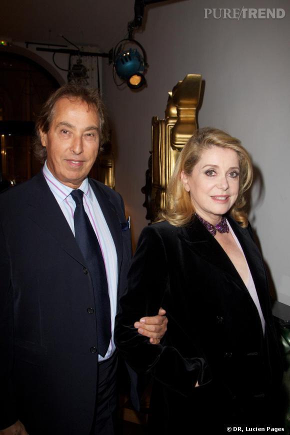 Gilles Dufour et Catherine Deneuve à la Maison Darré.