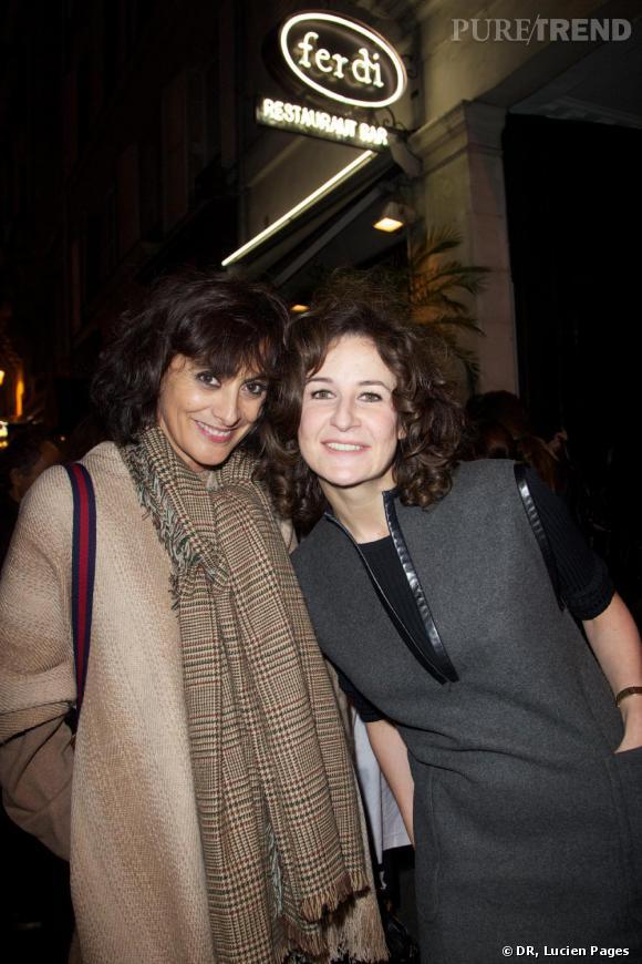 Ines de la Fressange et Valerie Lemercier à la Maison Darré.