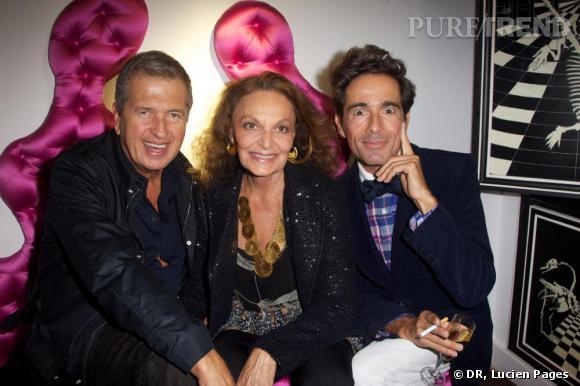 Mario Testino, Diane von Furstenberg et Vincent Darré à la Maison Darré.