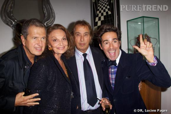 Mario Testino, Diane Von Furstenberg, Gilles Dufour et Vincent Darré à la Maison Darré.