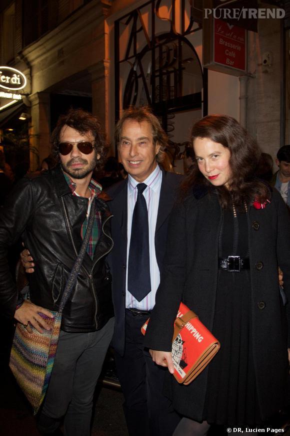 Olivier Zahm, Gilles Dufour et Olympia Le-Tan à la Maison Darré.