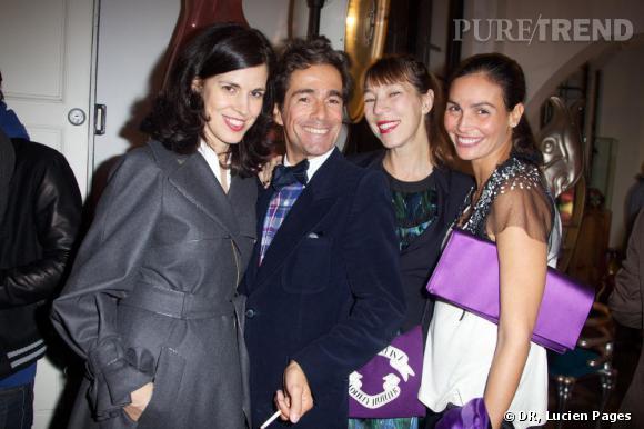 Vanessa Seward, Vincent Darré, Victoire de Castellane et Inès Sastre à la Maison Darré.