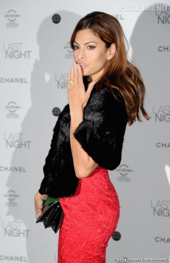 Eva Mendes au dîner organisé pour la sortie de Last Night, à Rome.