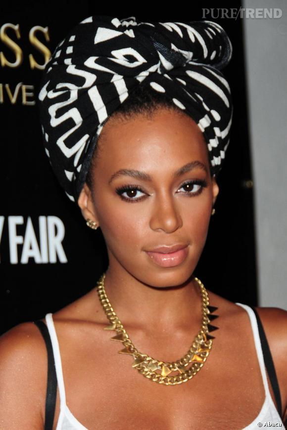 Solange Knowles aime le sien bicolore et imposant.