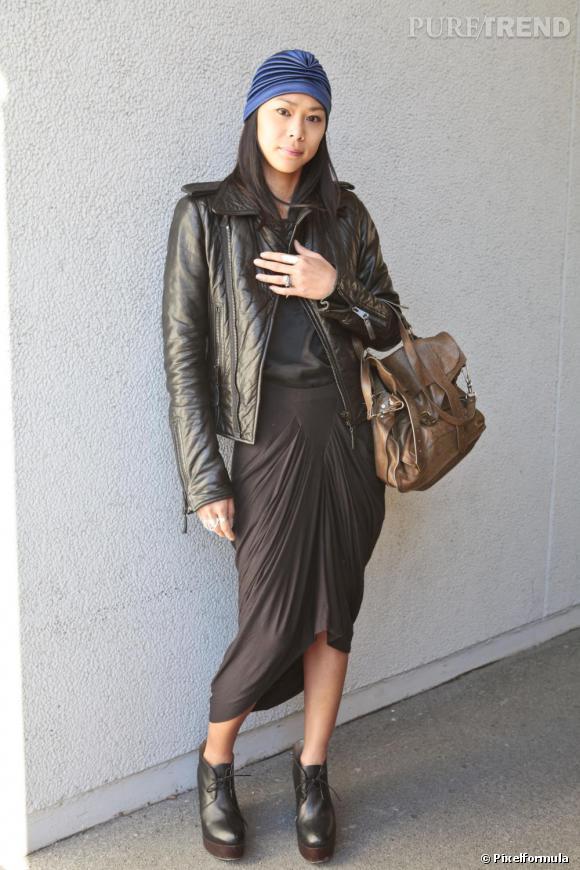 Les fashionista de Milan le portent avec leurs blousons en cuir.