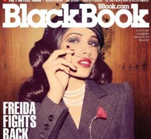 Freida Pinto joue les pépées pour Black Book