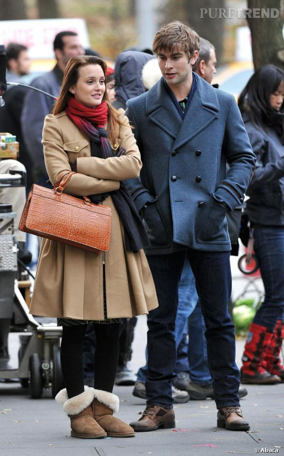 Leighton Meester sur le tournage de Gossip Girl à New York le 30  novembre dernier.