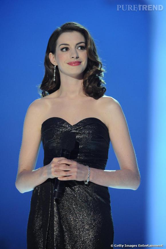 Anne Hathaway au Concert pour le Prix Nobel de la Paix à Oslo.