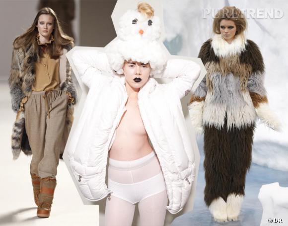 Quand les podiums anticipent la vague de froid :  Défilé Chloé Automne-Hiver 2010/2011. Collection Andrea Crews Automne-Hiver 2010/2011. Défilé Chanel Automne-Hiver 2010/2011.