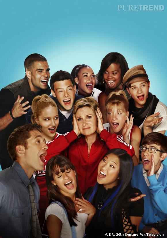 Le casting de la série Glee