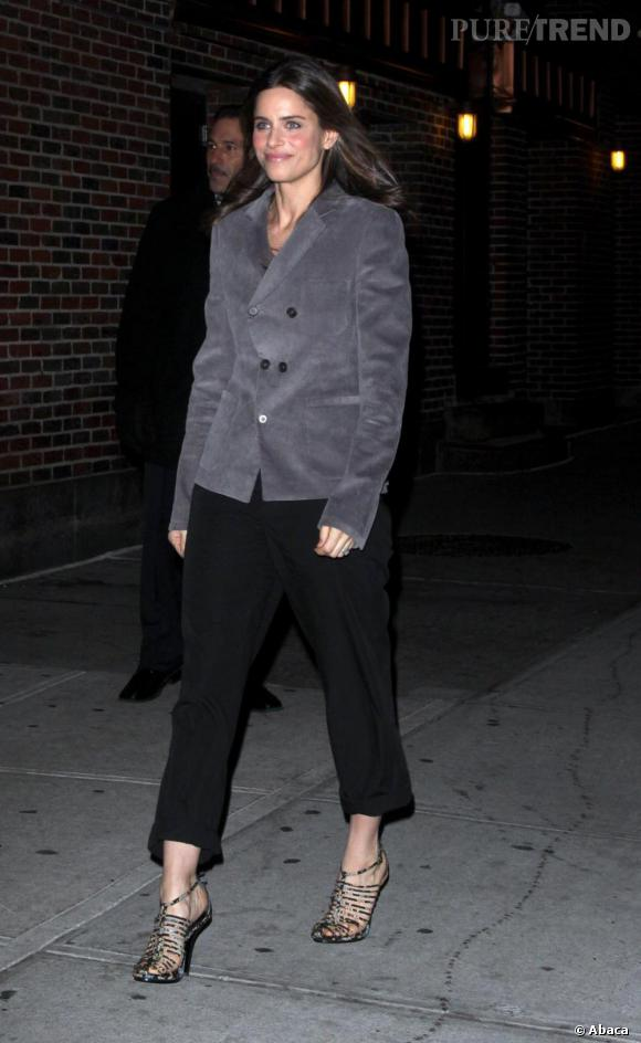 Amanda Peet au Late Show With David Letterman à New York mardi.
