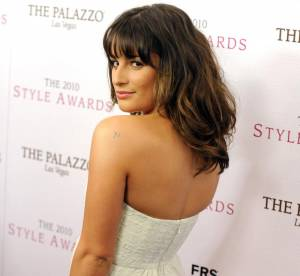 Lea Michele se drape de blanc
