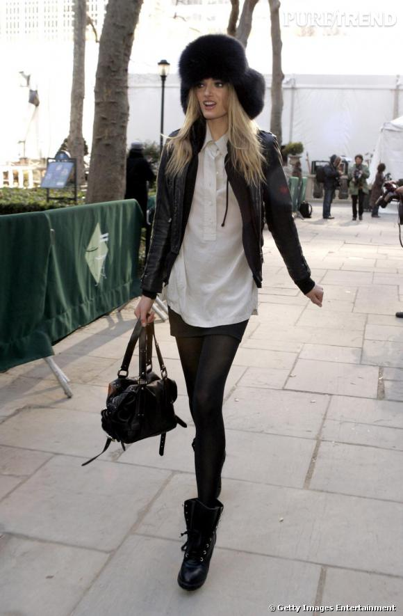 Look veste cuir femme