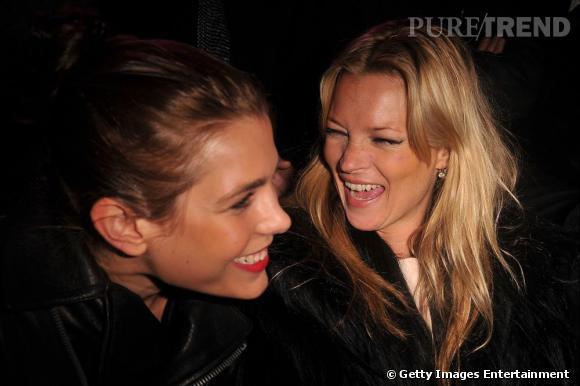 Charlotte Casiraghi aux côtés de Kate Moss.