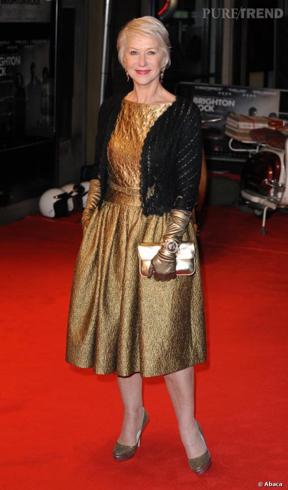 Helen Mirren à la première de Brighton Rock, à Londres.