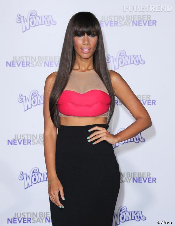 Leona Lewis lors de la première du film Justin Bieber : Never Say Never, à Los Angeles.