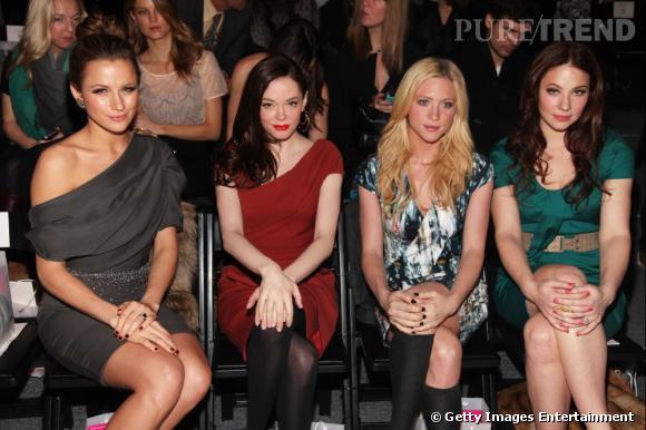 Le défilé Lela Rose a donné rendez-vous aux it-girls et starlettes d'Hollywood : Shantel VanSanten, Rose McGowan, Brittany Snow et Lynn Collins.