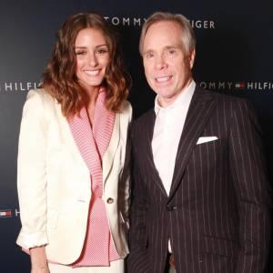 Olivia Palermo et Tommy Hilfiger.