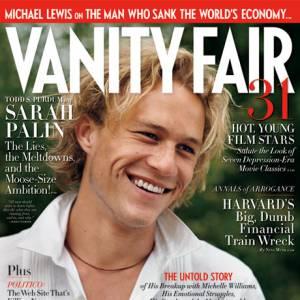 En août 2009, Vanity Fair consacre sa couverture à Heath Ledger mort la même année avec une photo datant de 2000.