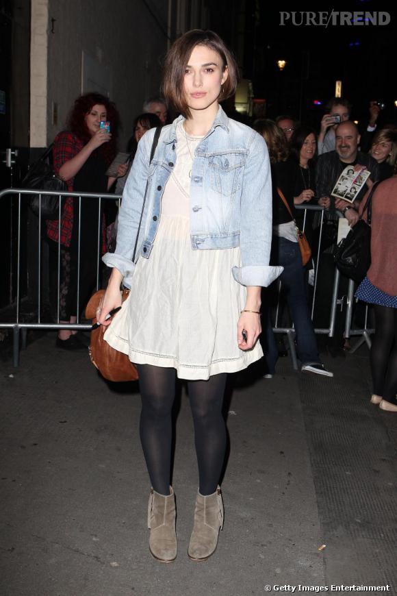 Keira Knightley dans les rues de Londres.