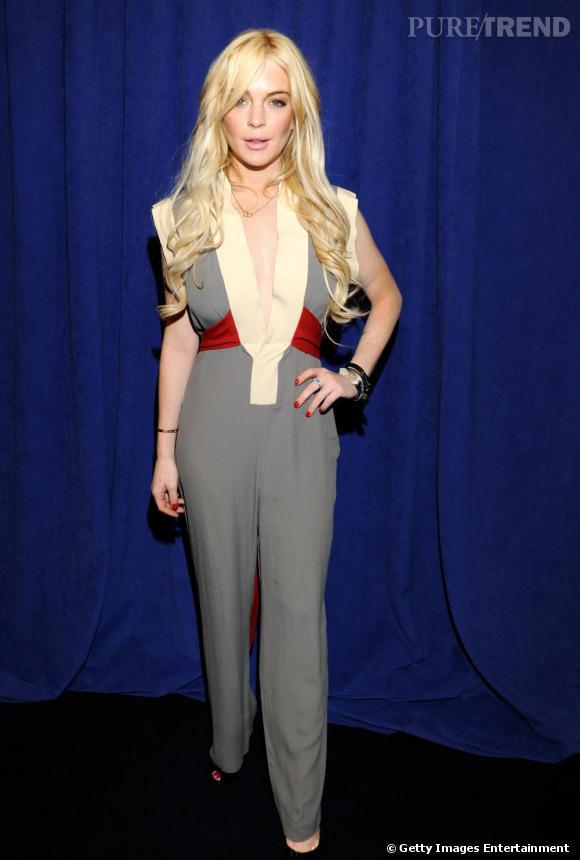 "Lindsay Lohan à la conférence de presse du film ""Gotti : Three Generations"", à New York."