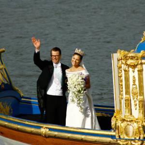 Victoria de Suède et Daniel Westling mariés en 2010.