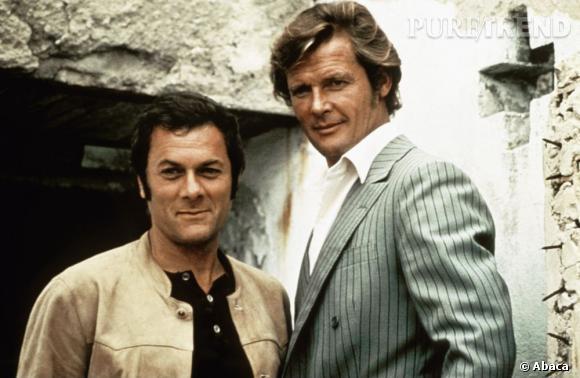 """""""Amicalement Vôtre"""", un duo de charme incarné par Tony Curtis et Roger Moore."""