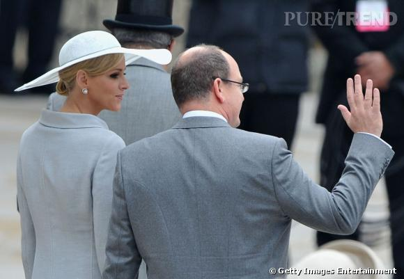 Charlene Wittstock au mariage de Kate Middleton et du prince William à Londres.
