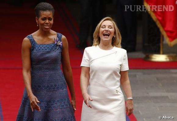 Michelle Obama et ses talents d'humouriste illuminent la journée de la première Dame du Chili.
