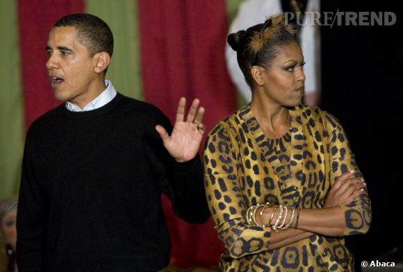 Barack fait l'impasse sur le déguisement et Michelle, elle aime pas ça.