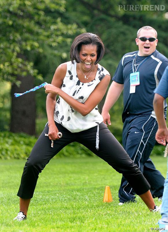 Michelle Obama, une grande enfant.