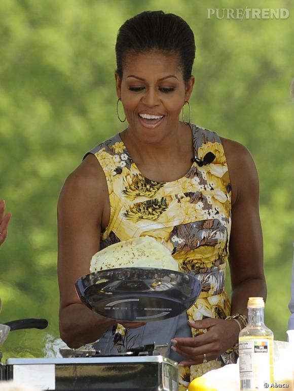 Michelle, première dame des crêpes.