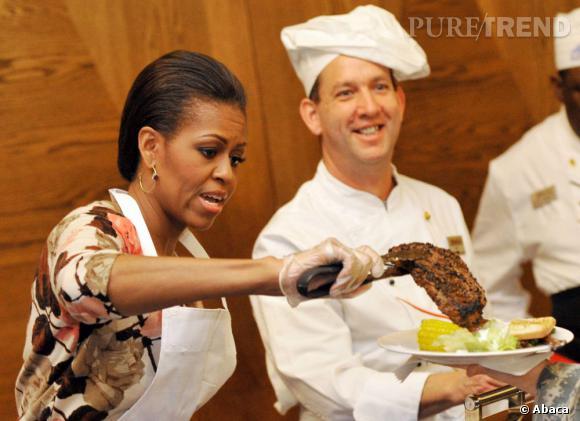 Michelle s'entraîne pour Top Chef.
