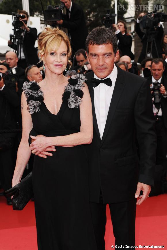 Cannes 2011 : Antonio Banderas et Melanie Griffith, un couple heureux.
