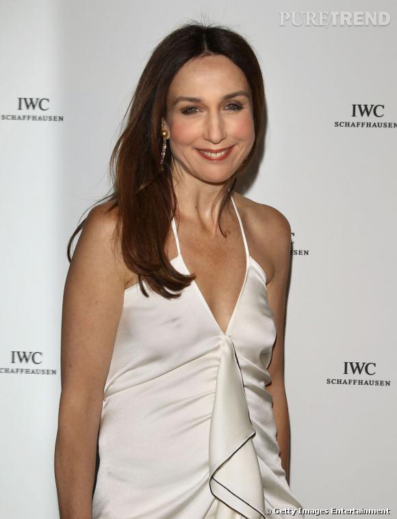 Elsa Zylberstein au dîner IWC à Cannes.