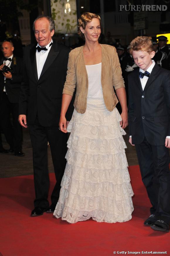 """Cécile de France à la première du film """"Le gamin au vélo"""", au Festival de Cannes 2011."""