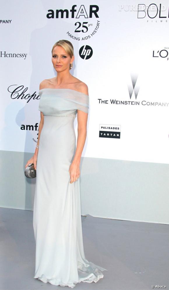 Charlene Wittstock lors du Gala de l'amfAR à Cannes.