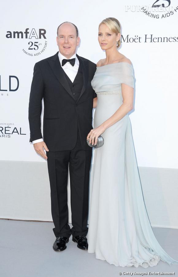 Charlene et son prince Albert.