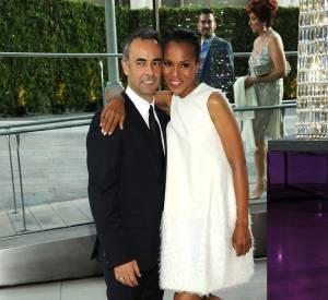 Kerry Washington pose en compagnie de Francisco Costa, créateur pour Calvin Klein Women.
