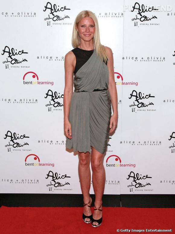 "Gwyneth Paltrow, en mode zen pour le ""Bent on Learning Benefit"", à New York."