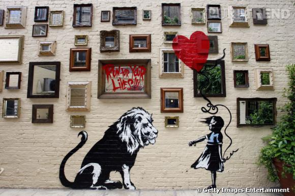 banksy est le street artiste le plus connu de ses derni res ann es personnage qui a toujours. Black Bedroom Furniture Sets. Home Design Ideas