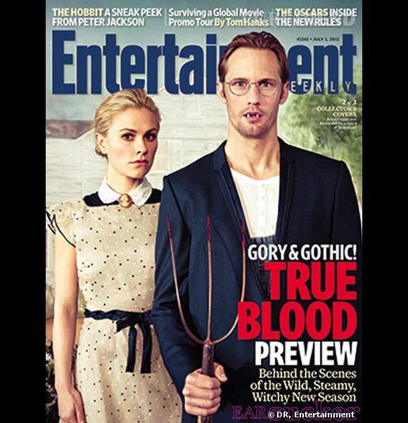 Anna Paquin et Alexander Skarsgard, en couverture du magazine Entertainment Weekly de Juillet 2011.