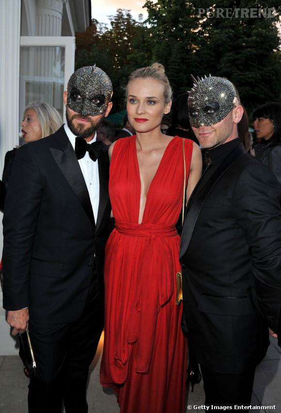 Diane Kruger, bien entourée. A gauche, Emmanuel d'Orazio et à droite Marc Zaffuto.