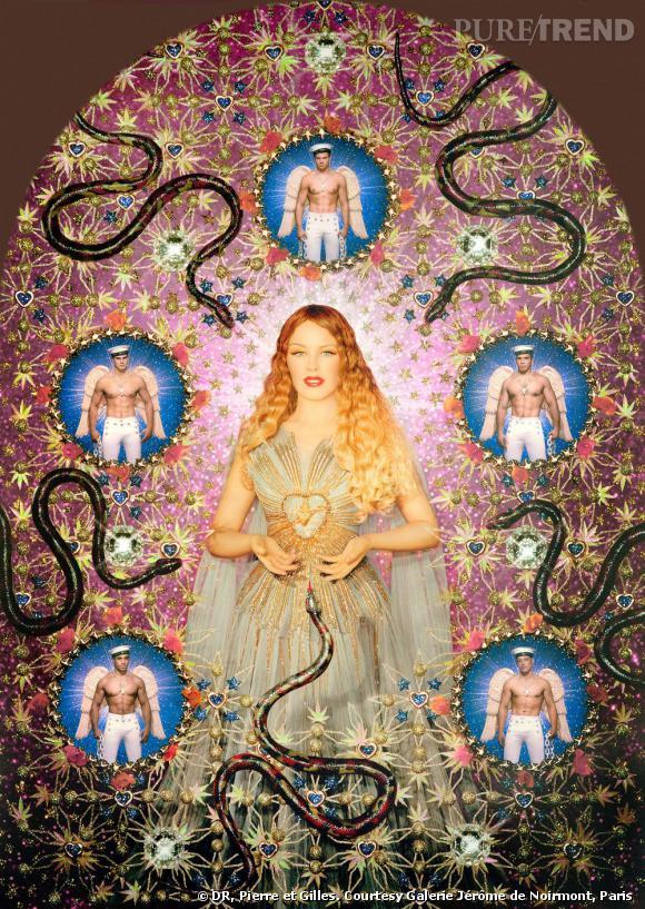 Pierre et Gilles    La Vierge aux serpents (Kylie Minogue) , 2008   Painted photograph, framed by the artists