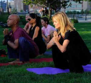 Heidi Klum, leçon de yoga