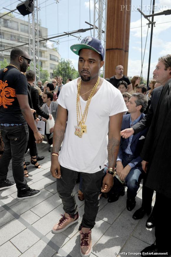 Kanye West, un rappeur au goût prononcé pour la mode.